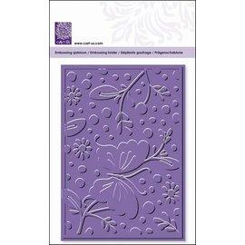 embossing Präge Folder Goffratura cartelle, fiori e farfalle, A6, 14,8 x 10,5 centimetri