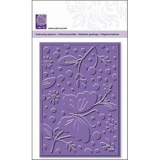 embossing Präge Folder Prægning mapper, blomster & sommerfugle, A6, 14,8 x 10.5cm