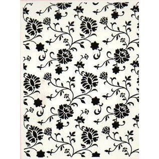 embossing Präge Folder Dossiers gaufrage, chalet floral, A6, 14,8 x 10,5 cm