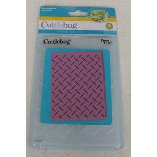 embossing Präge Folder Prægning af mapper, Diamond plade, A6, 14,8 x 10.5cm