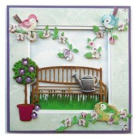 Marianne Design Goffratura e tappetino di taglio, panca da giardino
