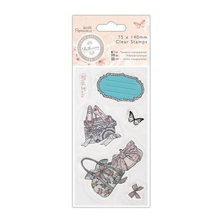 Docrafts / Papermania / Urban Transparent Stempel, 75 x 140mm - Bellisima - Shoes & Bags