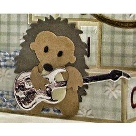 Yvonne Creations Estampillage et gaufrage pochoir, Guitare