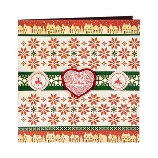 Cart-Us timbre en caoutchouc, panier-nous, Noël scandinave