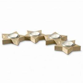 Objekten zum Dekorieren / objects for decorating Suporte de vela, de 4 estrelas Alueinsatz semicircular