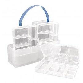 BASTELZUBEHÖR, WERKZEUG UND AUFBEWAHRUNG Classificação caixa, 4 pequenas caixas