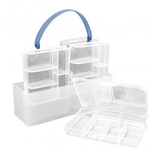 BASTELZUBEHÖR, WERKZEUG UND AUFBEWAHRUNG Sortering kasse, 4 små kasser