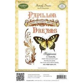 JUSTRITE AUS AMERIKA Stamp Justrite caoutchouc, papillon