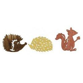 Embellishments / Verzierungen Legno Streuteile autunno amici 1.5-2cm, 24 pezzi