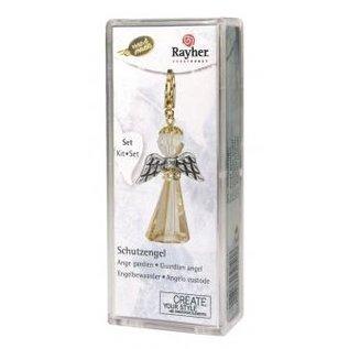 BASTELSETS / CRAFT KITS kit de carte Ange Gardien de cristal, 3,2x2 cm, avec mousqueton, golden shadow