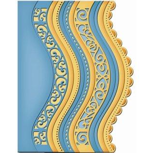Spellbinders und Rayher Stanzschablonen: 6 detaillierte Bordüren