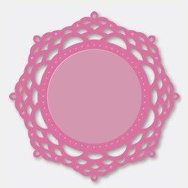 Stempel / Stamp: Transparent Criações costura - Ornamental Lace A - Espelho Mirrory