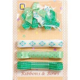 DEKOBAND / RIBBONS / RUBANS ... Collection: Ruban et Typ de broyage des tons verts,