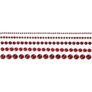 Embellishments / Verzierungen Demi perles, taille 2-8 mm, rouge, classé 140