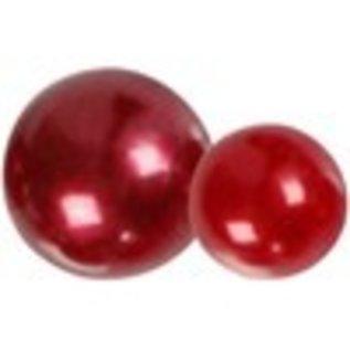 Embellishments / Verzierungen Halbperlen, Größe 2-8 mm, rot, 140 sortiert