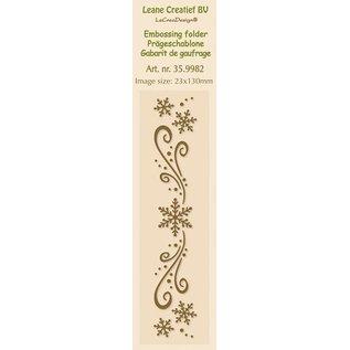 Leane Creatief - Lea'bilities Embossingsfolder, bordure 2.3x13cm, ice crystals