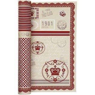 Karten und Scrapbooking Papier, Papier blöcke Temmelig designer papir, trykt på begge sider, 30.5x30.5 cm, 5 ark, 120gr.