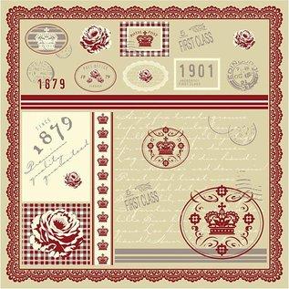 DESIGNER BLÖCKE / DESIGNER PAPER Joli papier de concepteur, imprimé des deux côtés, 30.5x30.5 cm, 5 feuilles, 120gr.
