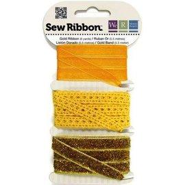 DEKOBAND / RIBBONS / RUBANS ... Dekoband assortiment jaune-orange-or