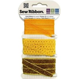 DEKOBAND / RIBBONS / RUBANS ... Dekoband Sortiment gelb-orange-gold
