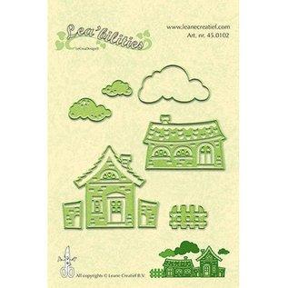 Leane Creatief - Lea'bilities Lea'bilitie, presning og prægning skabeloner, landsby