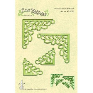 Leane Creatief - Lea'bilities Lea'bilitie, stamping and embossing templates, corner with leaves