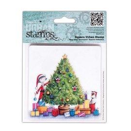 Docrafts / Papermania / Urban Gummi Stempel, Papermania Urban Stamp, Perfect Partner, 10cm  Weihnachtsbaum