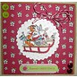 Docrafts / Papermania / Urban Clear stamps, 75 x 75mm, Pippi Træ jul - Sledge
