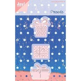 Joy!Crafts / Jeanine´s Art, Hobby Solutions Dies /  Estampage et gaufrage pochoirs, 3 Gechenkverpackungen