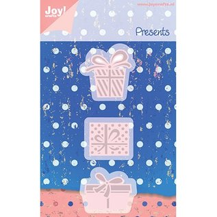 Joy!Crafts / Jeanine´s Art, Hobby Solutions Dies /  Estampage et gaufrage pochoirs, emballage 3 cadeau
