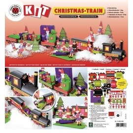 Kinder Bastelsets / Kids Craft Kits Kit Treno Craft Natale, 1 locomotiva, carrozza 6, deco e famiglia gnome