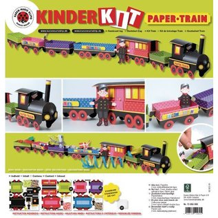 Kinder Bastelsets / Kids Craft Kits Train Craft Kit, 1 locomotive, carriage 6, deco and gnome family