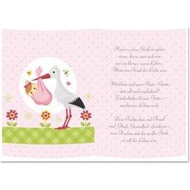 REDDY 5 papiers transparents, feuille A5, poèmes naissance fille