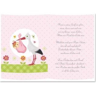 Fabulous 5 transparante papieren, vel A5, gedichten geboorte meisje - Hobby @LM43