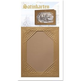 KARTEN und Zubehör / Cards 3 de Inverno de cetim cartões de ouro