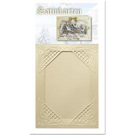 KARTEN und Zubehör / Cards 3 creme de Inverno de cetim cartões