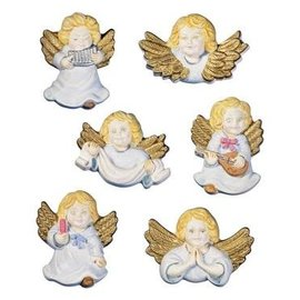 GIESSFORM / MOLDS ACCESOIRES Moldes Querubins Anjos, 6 peças