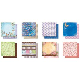 Designer Papier Scrapbooking: 30,5 x 30,5 cm Papier bloc Designer, Glitter papier Scrapbook Premium, 30,5 x 30,5 cm