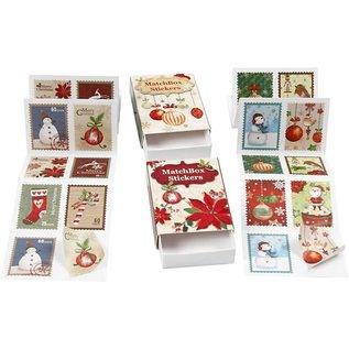 Sticker Hübsche gezackte Sticker, Größe 25x33 mm, 36 sortiert, weihnachtsmotive