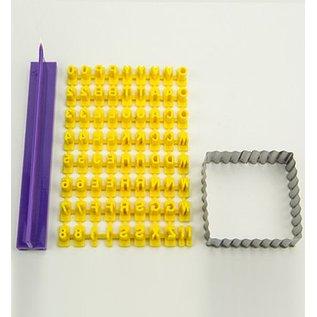 PATCHY Fragmentarisk silikoneformen - Prägebuchstaben Set