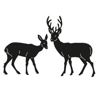 Marianne Design Stansning og prægning skabeloner Craftables, 2 rensdyr