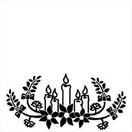 embossing Präge Folder Embossing 130x130mm Folder - velas de Natal
