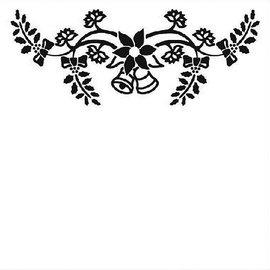 embossing Präge Folder Gaufrage 130x130mm Dossier - cloches de Noël