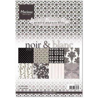 DESIGNER BLÖCKE / DESIGNER PAPER Jolis papiers, A5, noir et noir