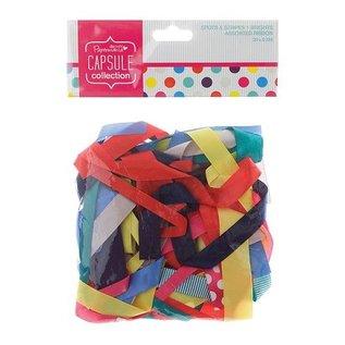 DEKOBAND / RIBBONS / RUBANS ... af forskellige dekorative bånd varme farver, 20 stykker