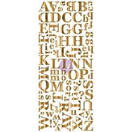 Prima Marketing und Petaloo Folheado de madeira escura, o alfabeto, madeiras