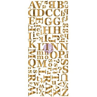 Prima Marketing und Petaloo Træfiner Mørk alfabet, alfabet i træ, 106 stykker