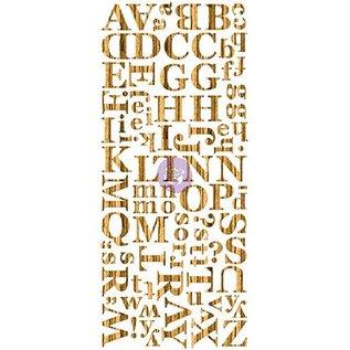 Prima Marketing und Petaloo Wood Veneer Alphabets Dark, Alfabet in holz, 106 Teile