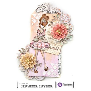 Prima Marketing und Petaloo Doll Stamps - Stamp Doll mindy