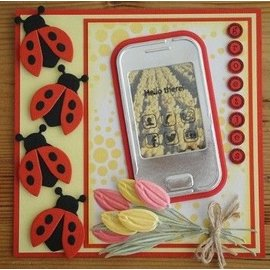 Marianne Design Estampillage et le gaufrage Stencil + mini timbre